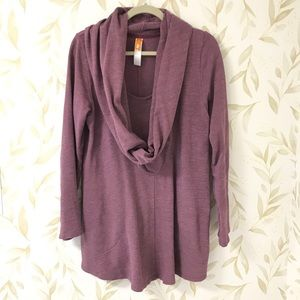 Lucy Cowl Neck Purple Tunic